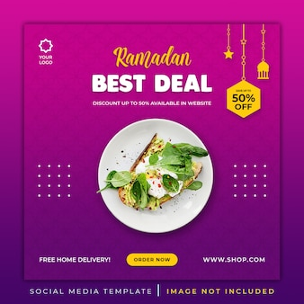 Ramadan special menu food banner template