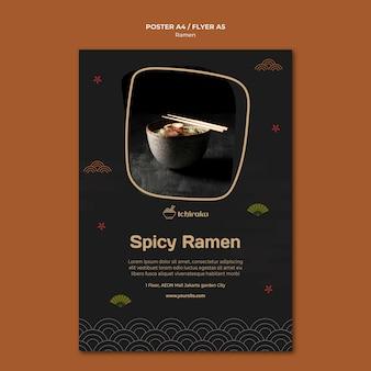 Ramen concept flyer template