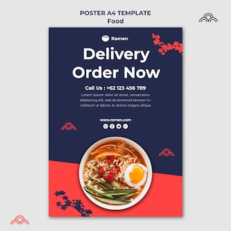 Ramen delivery poster template