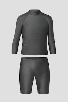 Rash guard swimsuit mockup