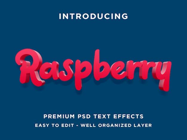 Raspberry text effect