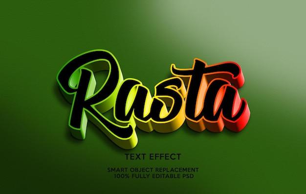 Rasta text effect template