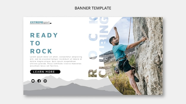 Ready to hike banner template