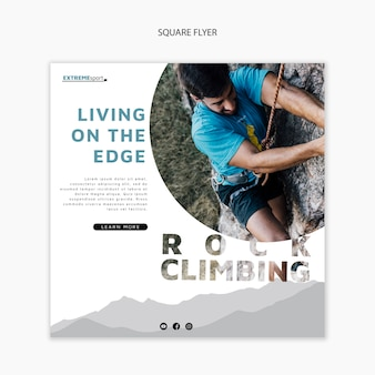 Ready to hike square flyer template