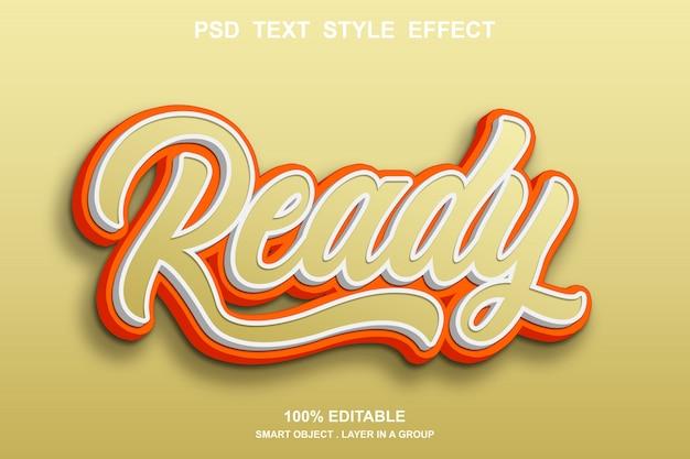 Готовый текстовый эффект редактируемый Premium Psd