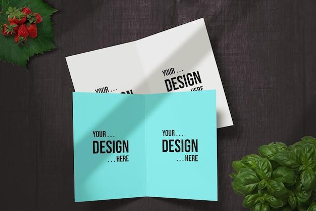 인사말 카드 모형 디자인 사용 가능