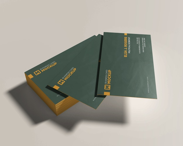 Ready to use business card mockup