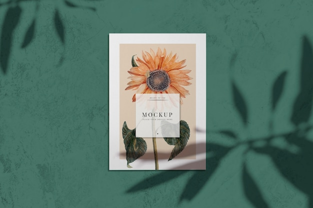 Ready to use sunflower card mockup