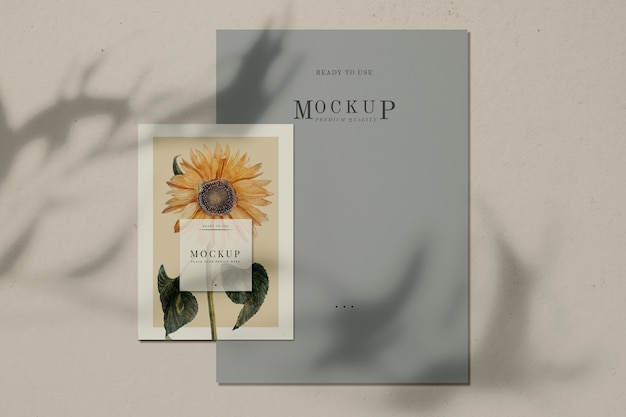 Ready to use sunflower poster mockup