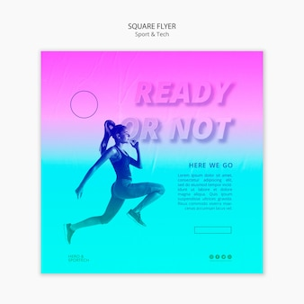 Ready or not workout square flyer