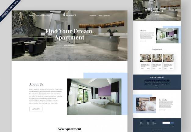 Шаблон целевой страницы аренды недвижимости и квартиры