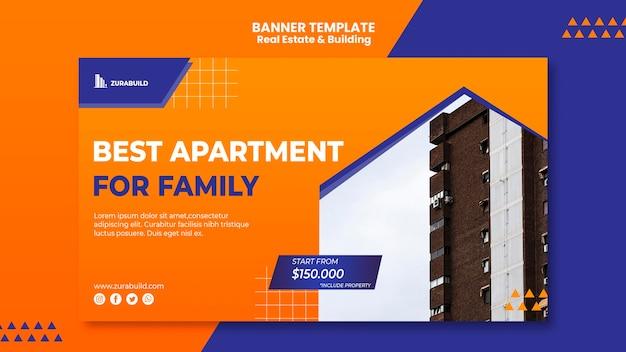 Шаблон баннера недвижимости и строительства