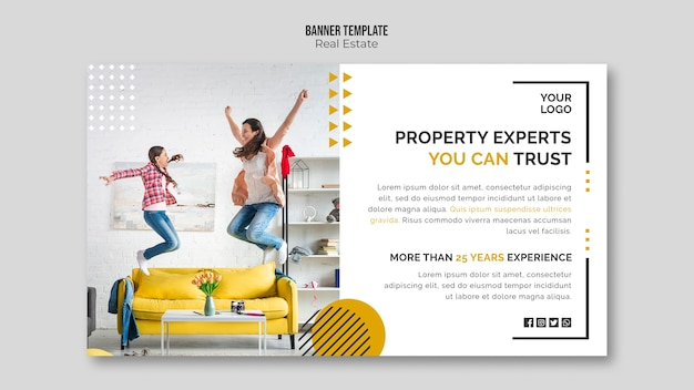 Real estate banner template concept