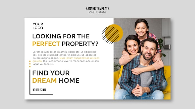 Real estate banner template design