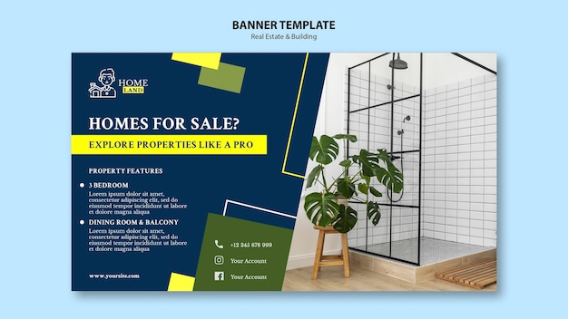 Real estate banner template