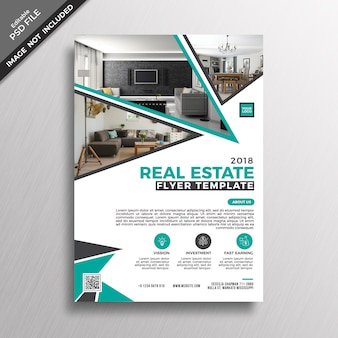 Real estate brochure cover mockup