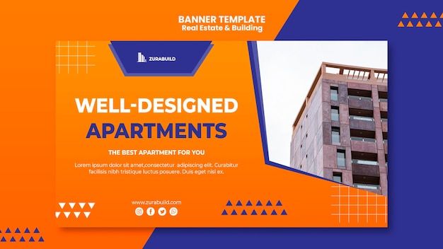 Real estate and building banner template