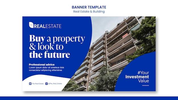 Banner immobiliare e di costruzione