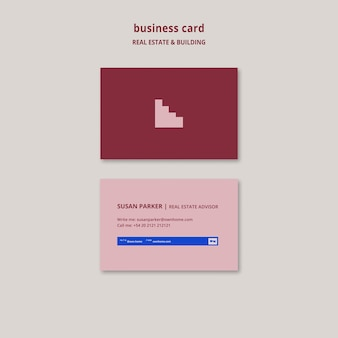 Real estate and building business card