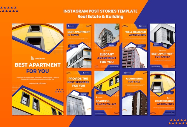 Real estate and building instagram stories