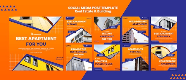 Real estate and building social media post