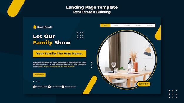Real estate and building web template