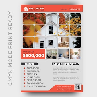 Real estate business flyer design template