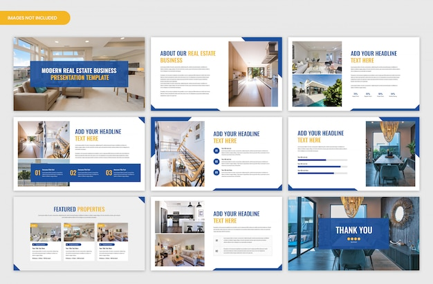 Real estate business and project presentation template