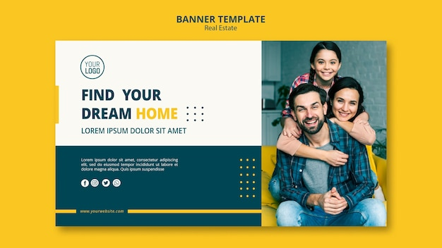 Real estate concept banner template
