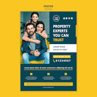 Real estate concept poster style
