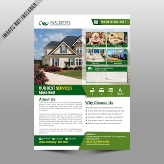 Real estate flyer mockup