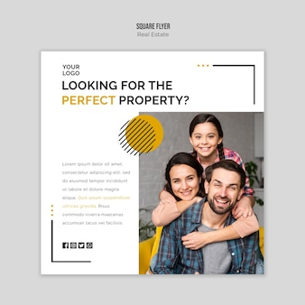 Real estate flyer template theme