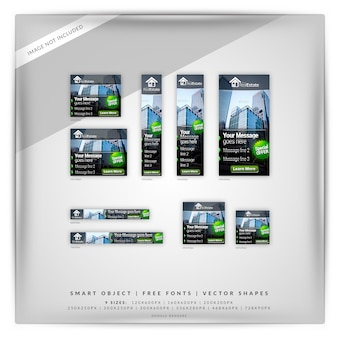 Real estate google banner set