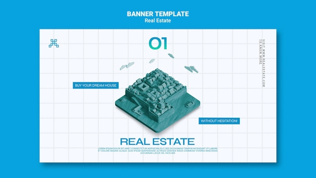 Real estate horizontal banner template