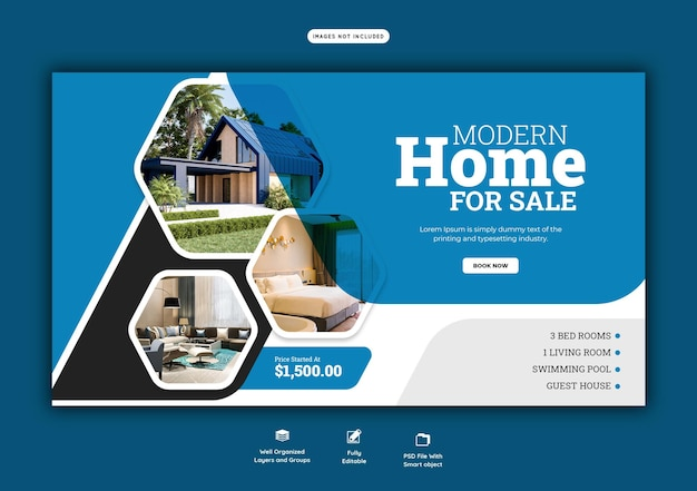 부동산 집 속성 웹 배너 서식 파일