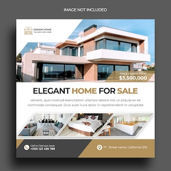 Real estate instagram post social media post template