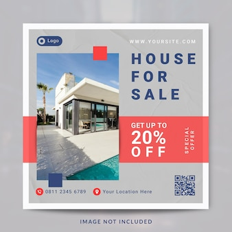 부동산 인테리어 집 재산 소셜 미디어 게시물 및 배너 템플릿