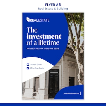 Шаблон флаера по инвестициям в недвижимость