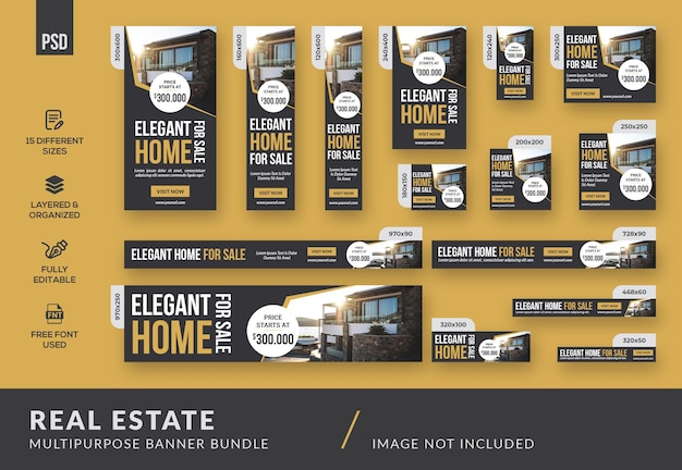 Real estate multipurpose banner bundle template