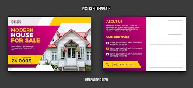 Real estate postcard design template