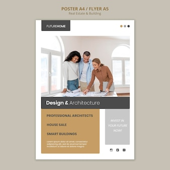 Real estate print template with photo
