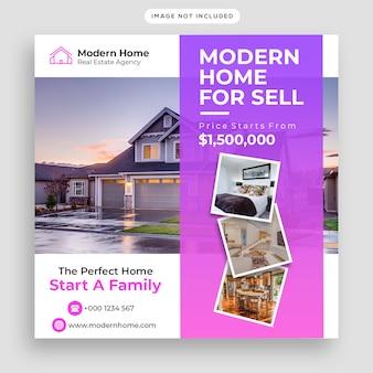 Real estate social media post banner