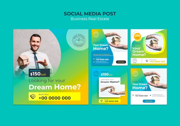 Real estate social media post template