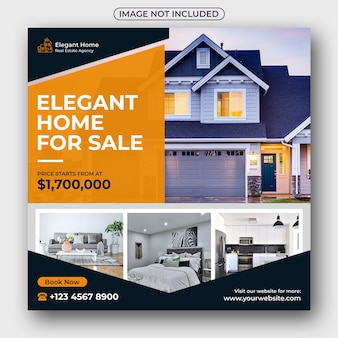 Real estate social media post and web banner
