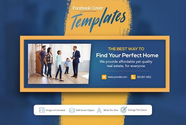 Real estate web banner facebook cover