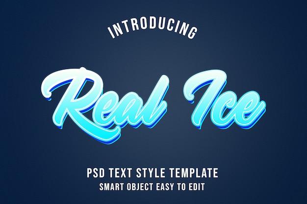 Текстовый эффект real ice