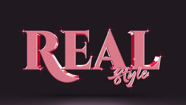 Real style 3d text effect template