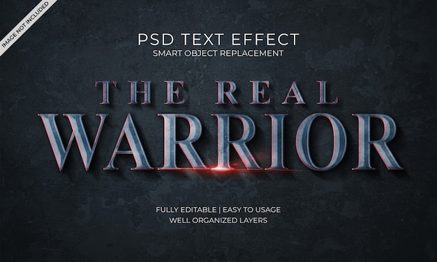 The real warrior text effect