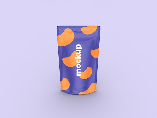 Realictic standing pouch mockup