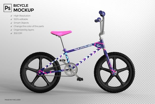 Realistic 3d bmx bike mockup design